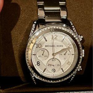 BN Michael Kors Women's Blair Silver-Tone Watch